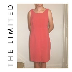 The Limited Salmon Sleeveless Sheath Dress